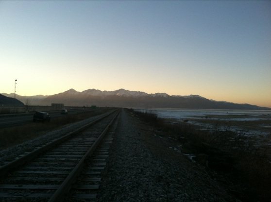 Seward Highway Railroad Tracks