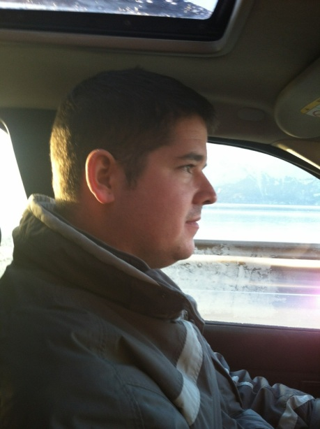 Tony driving seward highway