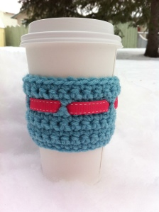 Pink & Aqua Coffee Cup Cozy